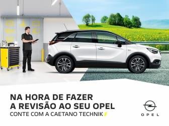 Revisão Opel por 99€ e 25% Desconto em Peças